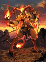 ifrit- final fantasy by dramegar
