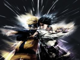 Naruto VS Sasuke by TheSnader
