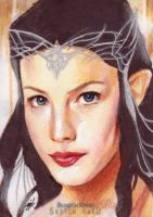 Arwen Sketch Card by Ethrendil