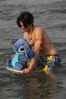 Lilo and Stitch: Surfing by kura-and-something