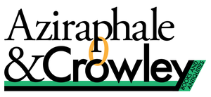 Aziraphale And Crowley Logo by mezzotessitura