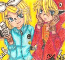 Len and Rin-matryoshka{Request} by haruhi116