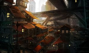 East Side of town by Darmelli
