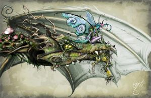 Forest Dragon by BunnyBennett