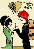 Toph and Gaara by Deckronomicon