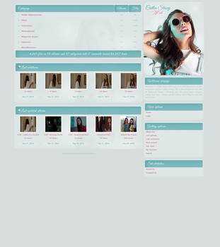Caitlin Stasey Coppermine Gallery Theme by xBrokenRose