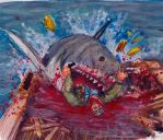 Quint's Demise (Robert Shaw - JAWS) by smjblessing