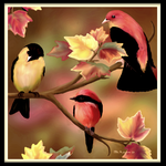 Autumn Songbirds by mk-kayem