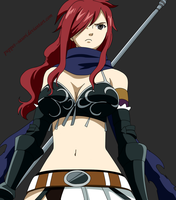 Erza KnightWalker Colored by Puppet--Sasori