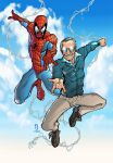 Spidey and Stan Lee print colored by Dany-Morales