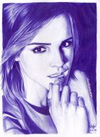 Emma Watson ballpoint pen (scanned version) by cLoELaLi11