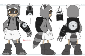 Raccoon Turnaround by CubeWatermelon