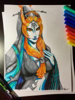 The Legend of Zelda Twilight Princess: Midna by banhbao91