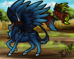 Unicorn Pegasus with Friend - Adopt 1 - Pts or Art by TuttibirdArts