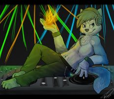 DJ with fire by Imalou
