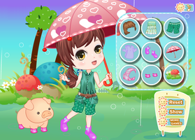 Walking The Pig in The Rain - Dress up Games for G by willbeyou