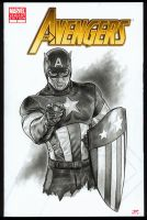 Captain America AVENGERS Sketch Cover by S-von-P