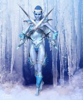 Ice Warrior of the Frozen Lands by RavenMoonDesigns