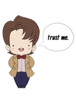 Trust me [Doctor Chibi] Redbubble shirt by Erin-Tudball