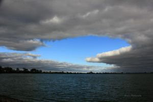 An Island of Blue in a Sea Of Gray by silverlakephotos