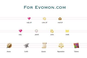 game icons for evomon.com by jordanfc