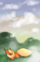 Flareon - Dawn by Kiotii