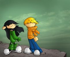 Wally and Kuki FusionFall by OrionStorm