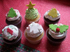 Christmas cupcakes 2 by lifextime