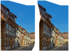 Half-timbered houses HDR 3D by zour