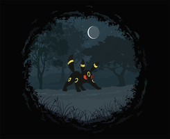 Umbreon Tshirt Design by nekuroSilver