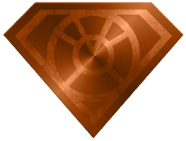 Metal Superman Orange Lantern Shield by KalEl7