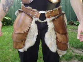 ''The rider'' leather tasset with fur by marcuslerenard