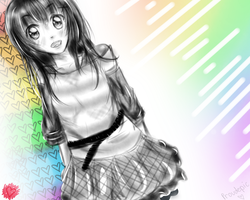 Rainbow girl by Proudepic