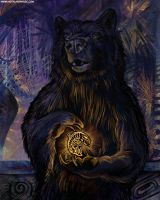 Bear and Salmon by ursulav