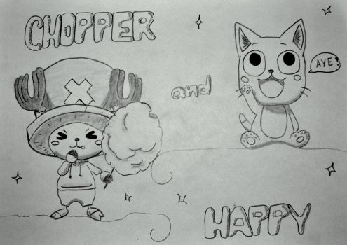 Chopper and Happy by Man0steelman