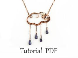 Tutorial cloud wire pendant by UrsulaJewelry