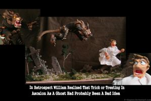 guild wars 2 Halloween diorama entry by 6-fingers