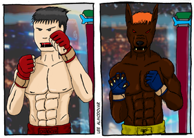 Alex vs Anubis by RecycledSushi