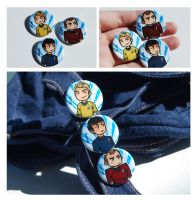 Star Trek Buttons by Avender