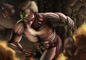 Brock Lesnar Attack on Titan by Yjayr