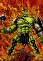 World War Hulk by pauloskinner