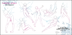 Faerie Pose Reference by Clareesi