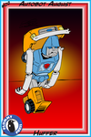 Autobot August day 02 - Huffer by invaderjes