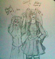 Alice Cooper and Kae by Wolf-Angel-whitewing
