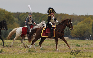 Austrian Hussar and Officer 1813 - 2 by Darya87