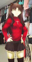 Tohsaka Rin - Mannequin in the Store by adi1625