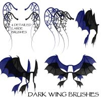 Dark Wing Brushes by WitsResources
