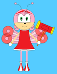 Amy Rose as Butterfly by roxan1930