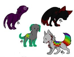 Puppy adoptables for sale! c: by daunt-less