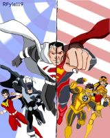 Justice Lords VS Regime coloured background by RFyle119